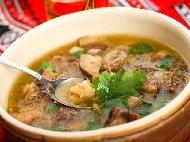 Рецепта Супа / чорба от свински език, целина, алабаш и моркови